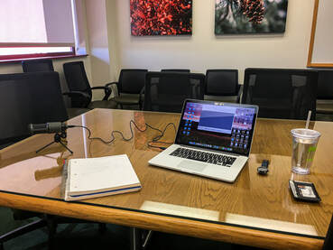 Recording setup for my first podcast